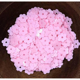Opaque Light Pink Flat Flower Sequins Shaker Card Fillers