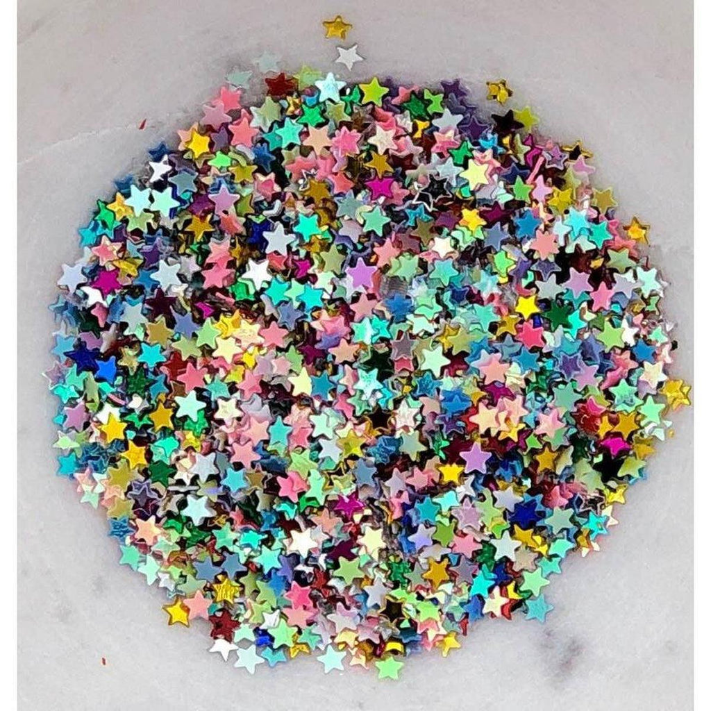 3mm Rainbow Star Sequins/Confetti