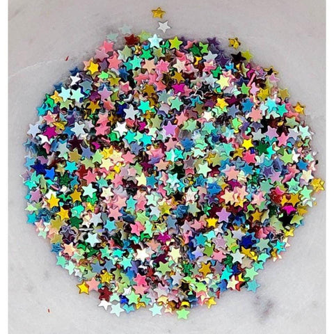 3mm Rainbow Star Sequins/Confetti - Kat Scrappiness