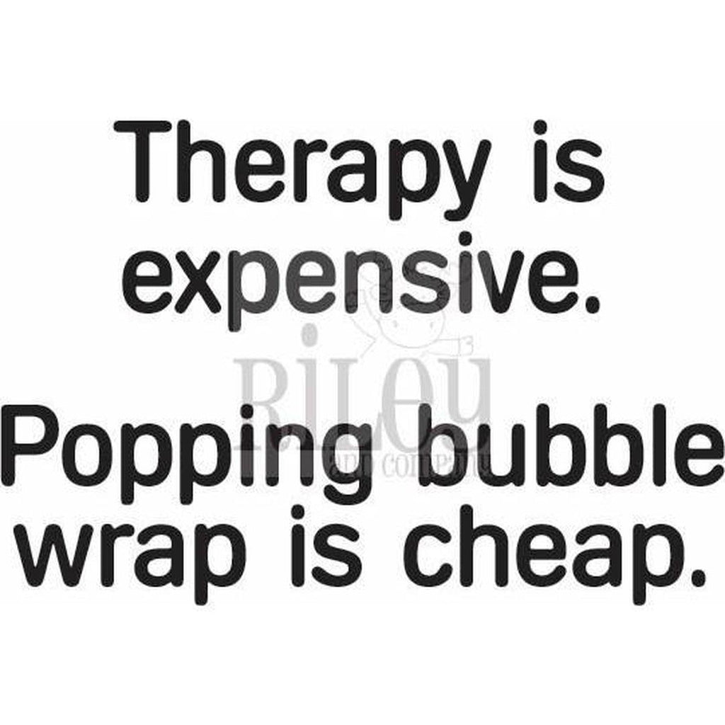 Therapy is Expensive Cling Stamp by Riley & Co - Kat Scrappiness