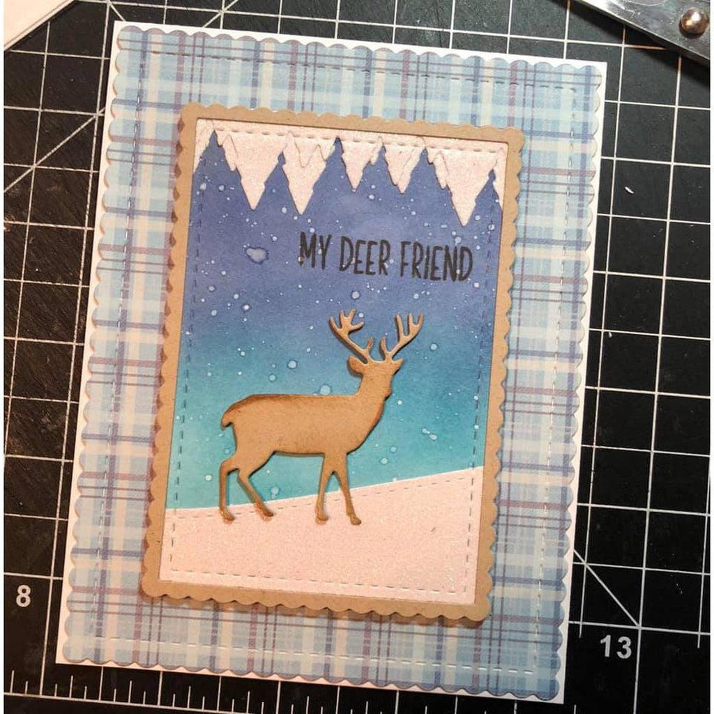 Pine Tree/Icicle Duo Border Die by Kat Scrappiness - Kat Scrappiness