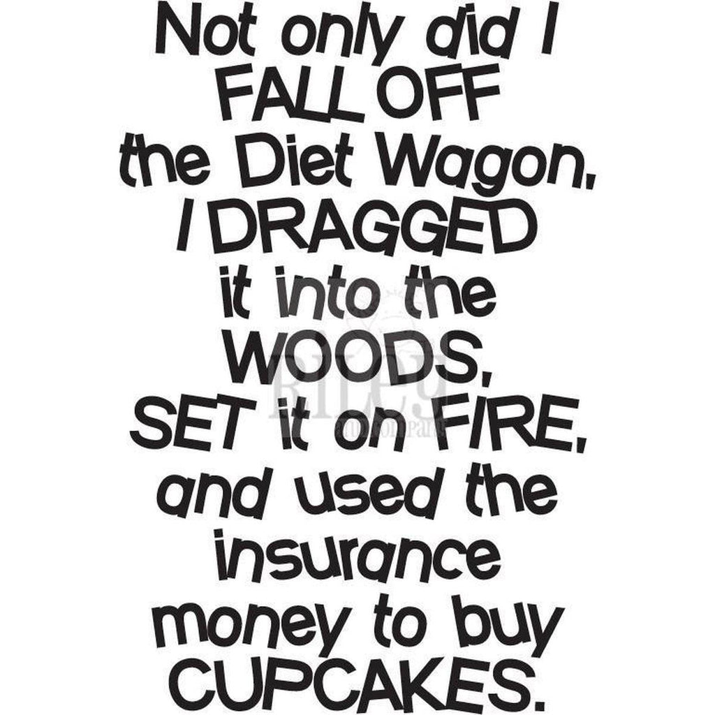 Diet Wagon Cling Stamp by Riley & Co - Kat Scrappiness