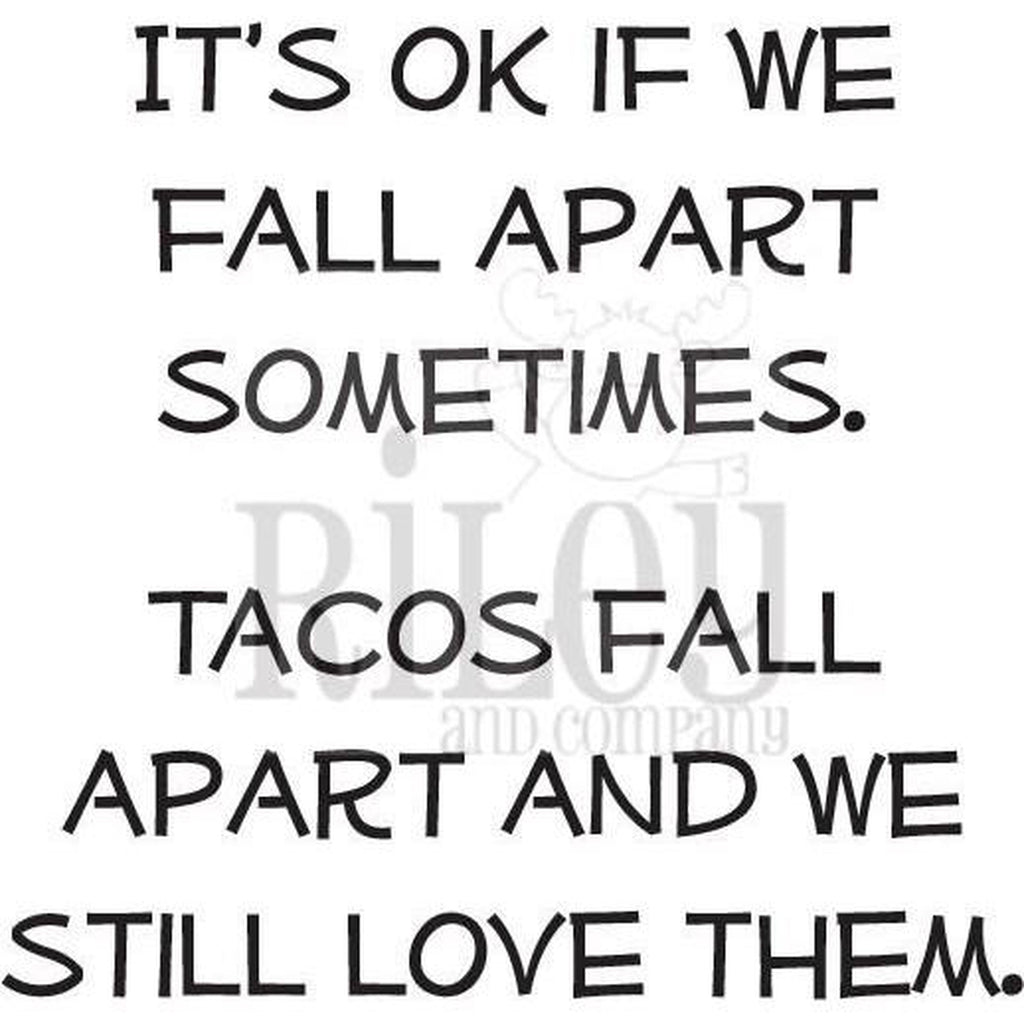 Tacos Fall Apart Cling Stamp by Riley & Co - Kat Scrappiness