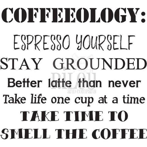 Coffeeology Cling Stamp by Riley & Co - Kat Scrappiness