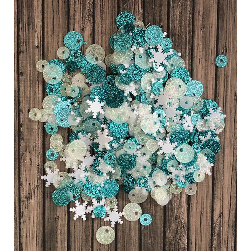 Snow Flurries Sequin Mix by Kat Scrappiness - Kat Scrappiness