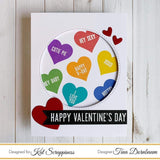 """Say It With Hearts"" 4"" x 4"" Stamp & Die Bundle by Kat Scrappiness - Kat Scrappiness"