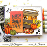 """Let's Get Caffeinated"" Stamp Set by Kat Scrappiness - Kat Scrappiness"