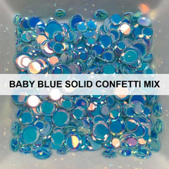 Baby Blue Solid Confetti Mix - Sequins - Kat Scrappiness