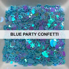 Blue Party Confetti - Sequins - Kat Scrappiness