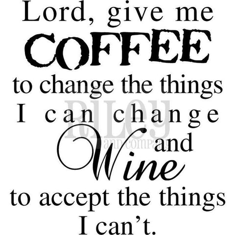 Coffee to Change the Things I Can Cling Stamp by Riley & Co