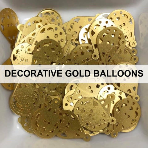 Decorative Gold Balloon Sequins - Kat Scrappiness