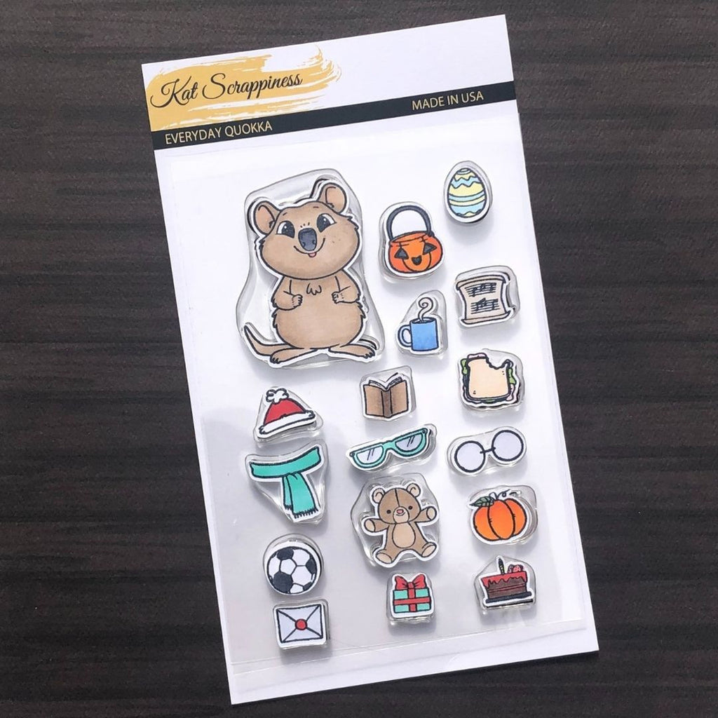 Everyday Quokka Stamp Set by Kat Scrappiness