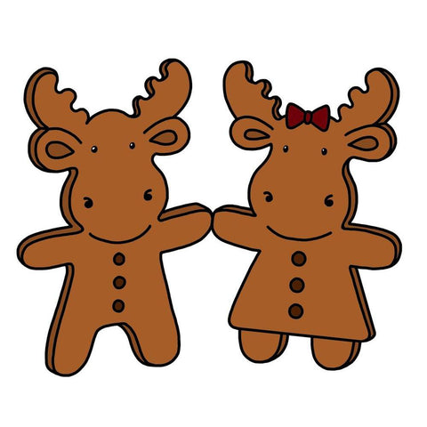 Gingerbread Riley & Sophie Cling Stamp by Riley & Co