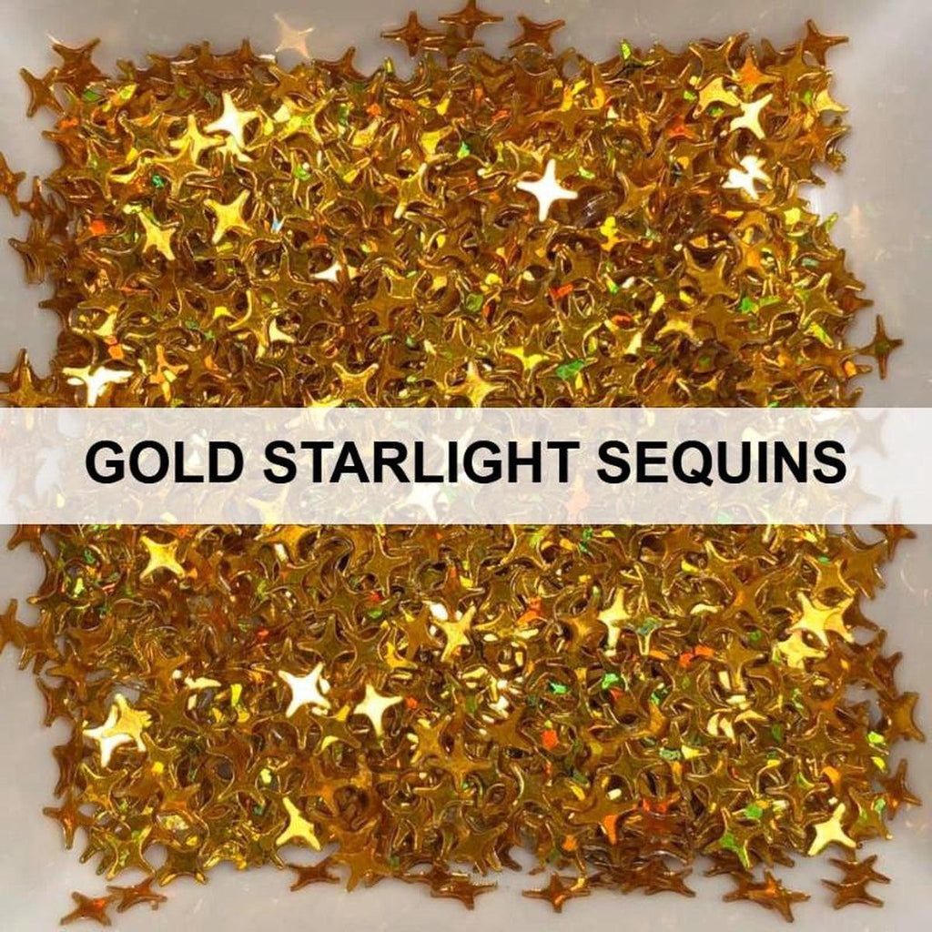 Gold Starlights - Sequins - Kat Scrappiness