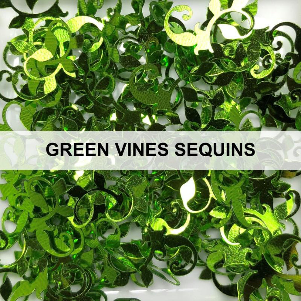 Green Vine Sequins