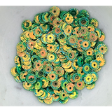 Golden Green Pinwheel Sequin Mix - Kat Scrappiness