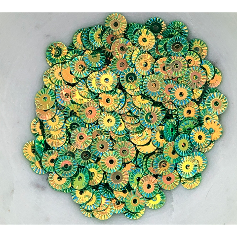 Golden Green Pinwheel Sequin Mix