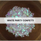 White Party Confetti - Sequins - Kat Scrappiness