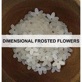 Dimensional Frosted Flowers - Sequins