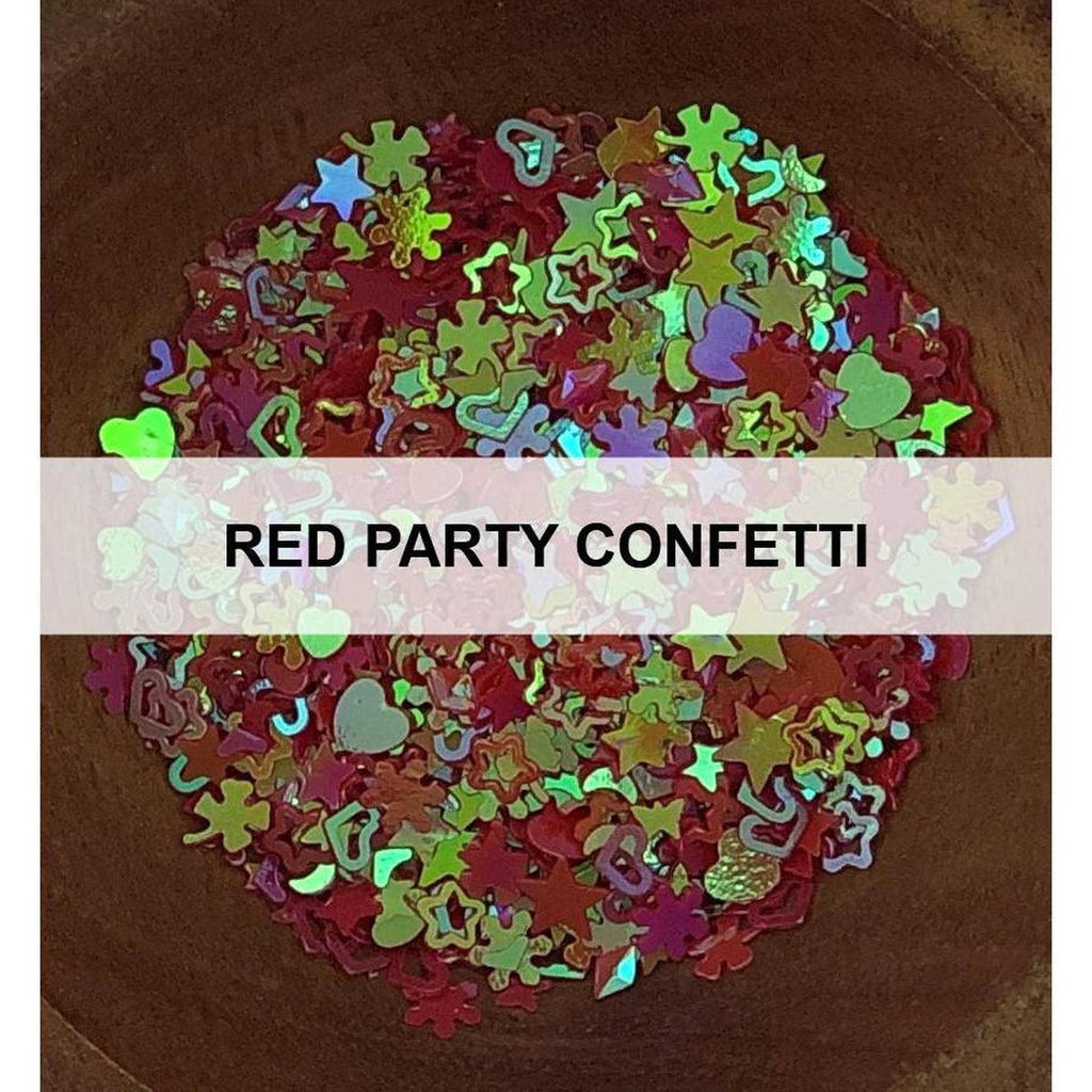 Red Party Confetti - Sequins - Kat Scrappiness