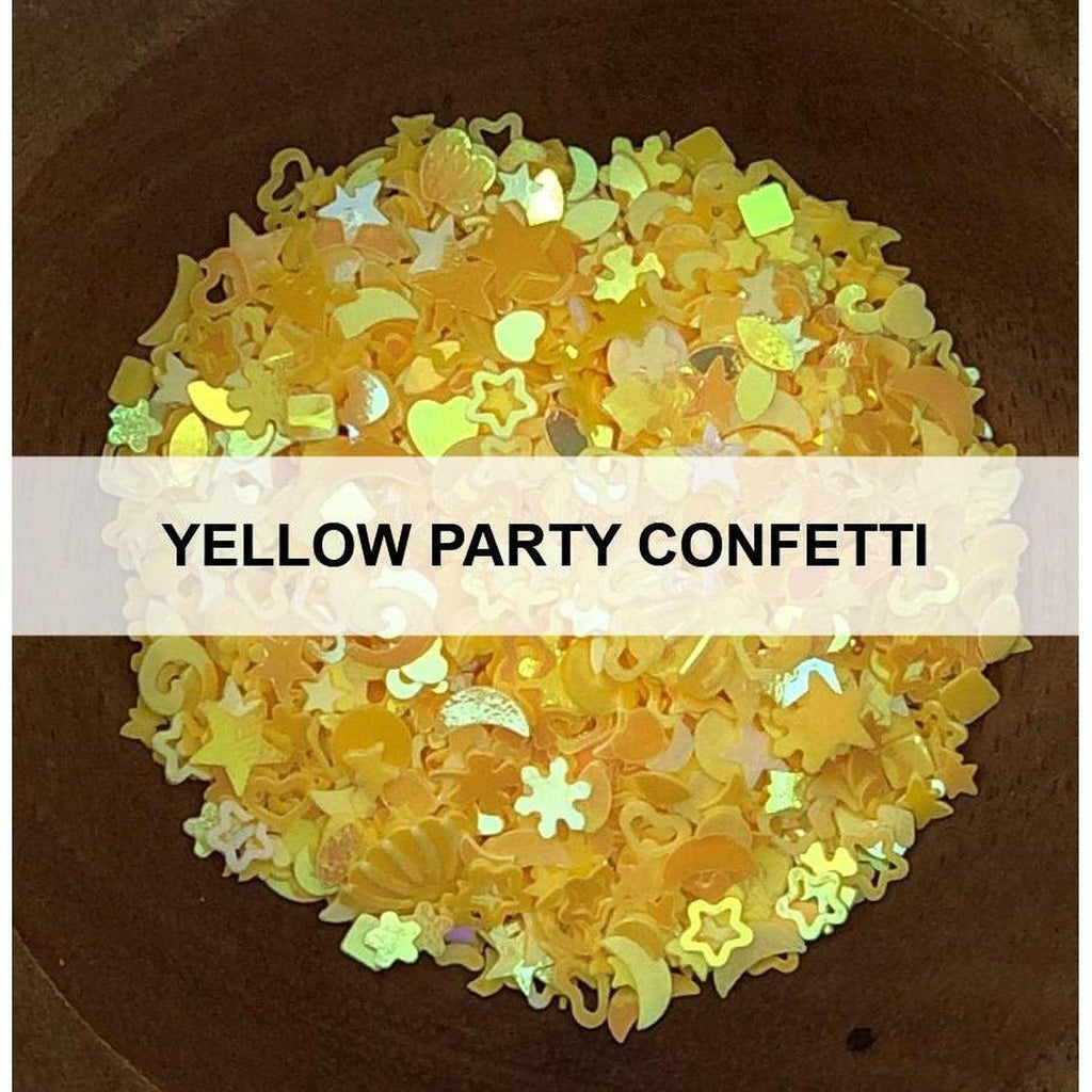 Yellow Party Confetti - Sequins - Kat Scrappiness