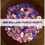 4mm Brilliant Purple Hearts - Sequins