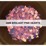 4mm Brilliant Pink Hearts - Sequins - Kat Scrappiness