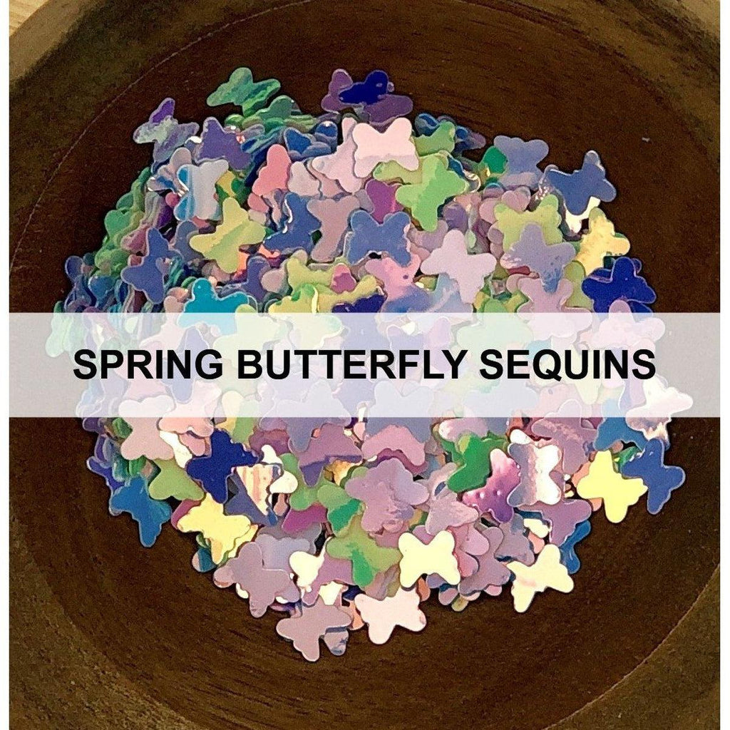Spring Butterfly Confetti - Sequins - Kat Scrappiness