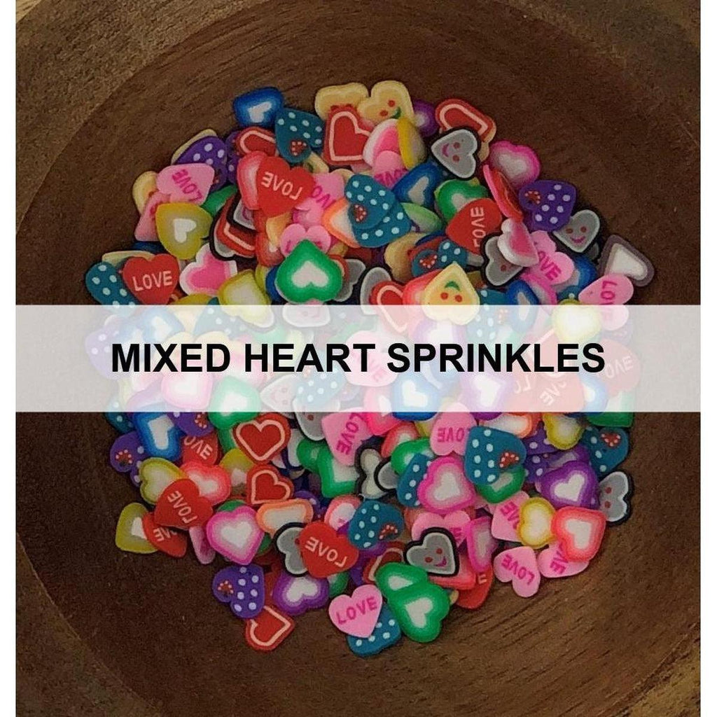 Mixed (Patterned) Heart Sprinkles