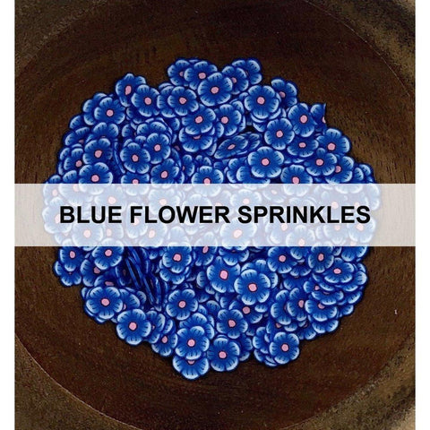 Blue Flower Sprinkles - Kat Scrappiness