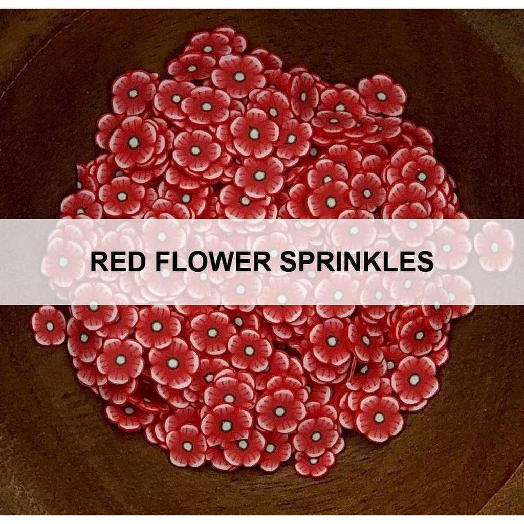 Red Flower Sprinkles - Kat Scrappiness