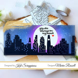 Slimline Layered Cityscape Dies by Kat Scrappiness - RESERVE - Kat Scrappiness