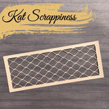 Slimline Wood Grain Framed Diamond Wire Die by Kat Scrappiness - RESERVE