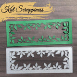 Slimline Foliage Frame Die by Kat Scrappiness - RESERVE