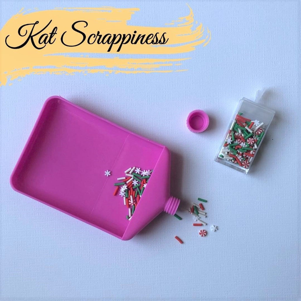 Small Embellishment Funnel Trays w/Cap by Kat Scrappiness