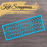 Slimline Chevron Coverplate Die by Kat Scrappiness