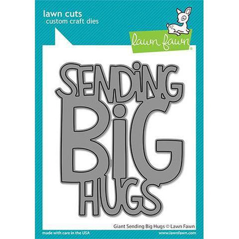 Giant Sending Big Hugs Craft Die by Lawn Fawn