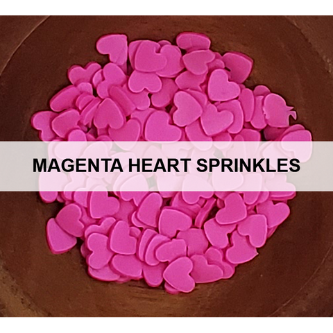 Magenta Heart Sprinkles by Kat Scrappiness - Kat Scrappiness