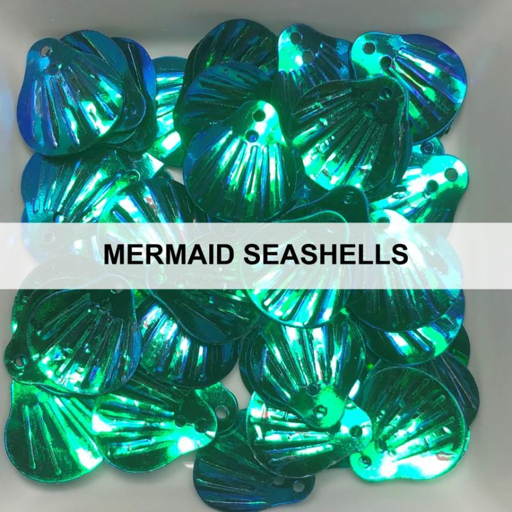 Mermaid Seashell Sequins by Kat Scrappiness
