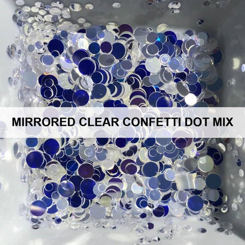 Mirrored Clear Confetti Dot Mix - Sequins - Kat Scrappiness