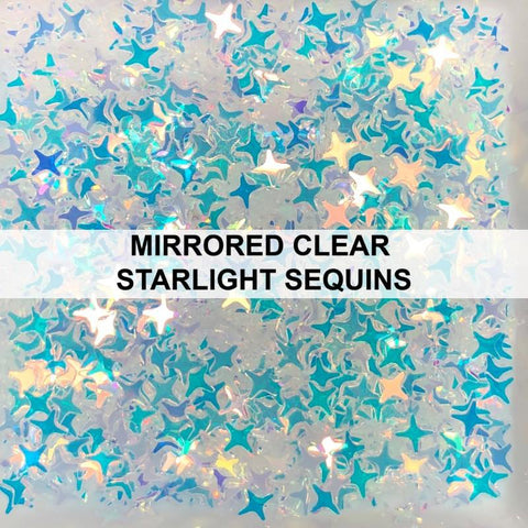 Mirrored Clear Starlight - Sequins