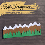 Slimline Mountain Scape Dies by Kat Scrappiness