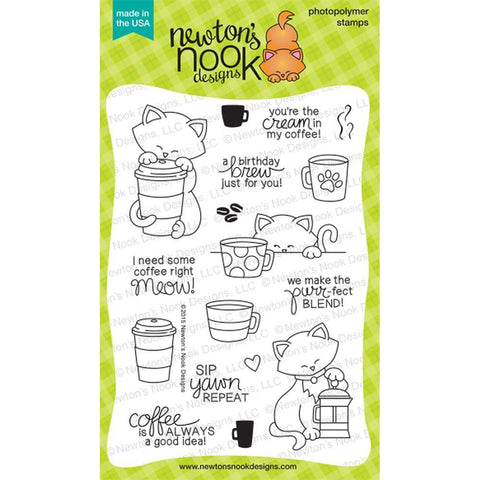 Newton Loves Coffee Stamps by Newton's Nook Designs - Kat Scrappiness