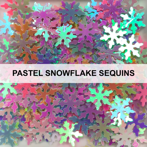 Pastel Snowflake Sequins by Kat Scrappiness
