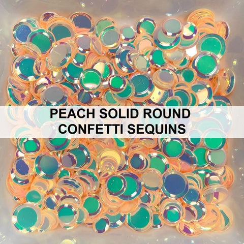 Peach Solid Confetti Mix - Sequins