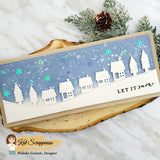 Holiday Village Slimline Border Die by Kat Scrappiness