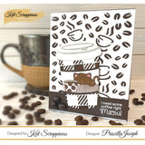 Coffee Time Background Die by Kat Scrappiness - Kat Scrappiness