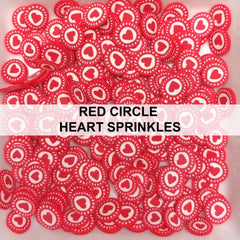 Red Circle Heart Sprinkles by Kat Scrappiness