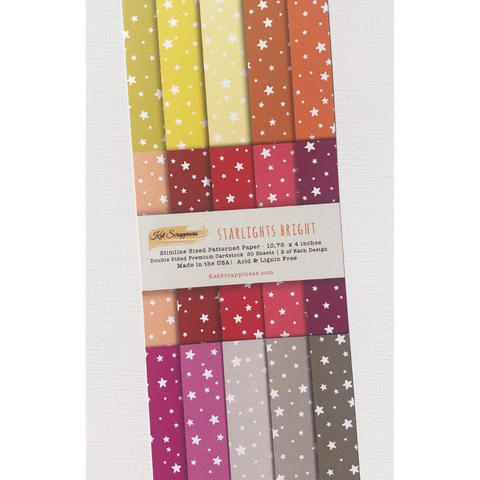 Starlights Bright - Slimline Paper Pad by Kat Scrappiness