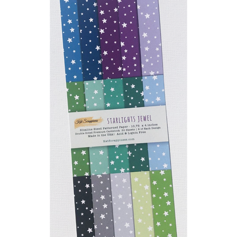 Starlights Jewels - Slimline Paper Pad by Kat Scrappiness